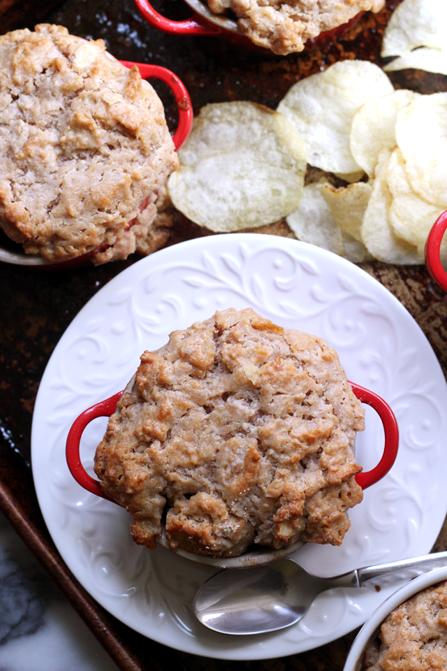 Mini Apple Cobblers with Sweet and Salty Biscuit Topping