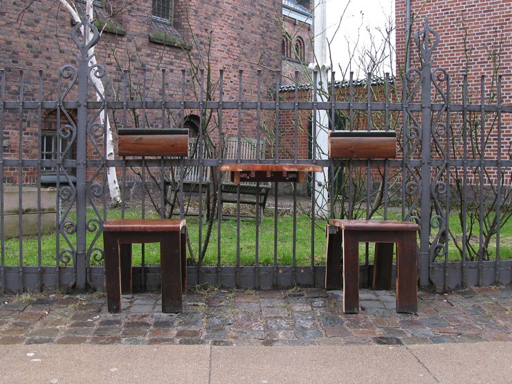 Outdoor church benches
