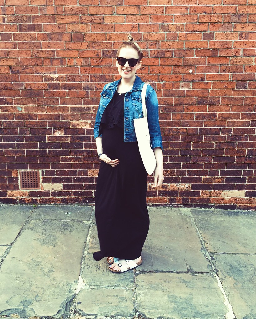 topshop maternity black maxi dress