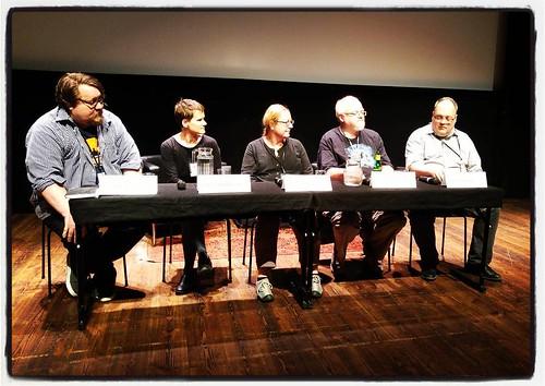 Panelen pratar om Nordic fantasy på #swecon.