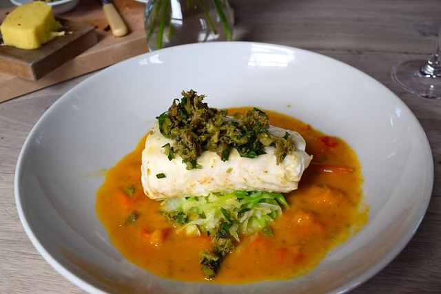 Hake with with Bouillabaisse Sauce and Green Olive Tapenade at The Sportsman, Seasalter | www.rachelphipps.com @rachelphipps