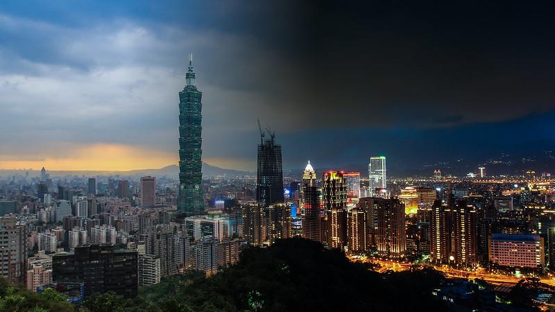 Taipei 101 From Day to Night