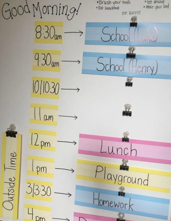 Use a dynamic Summer Schedule to stay on track and help kids be accountable for their days