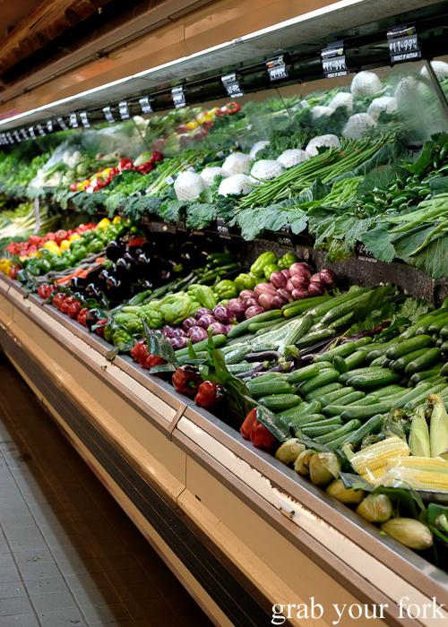 Fresh vegetable aisle at Banana Joe's supermarket during the Community Kouzina Marrickville Food Tour for Open Marrickville