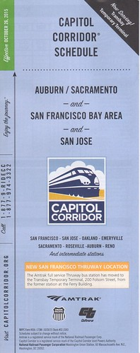 Amtrak Capitol Corridor 2015 Cover