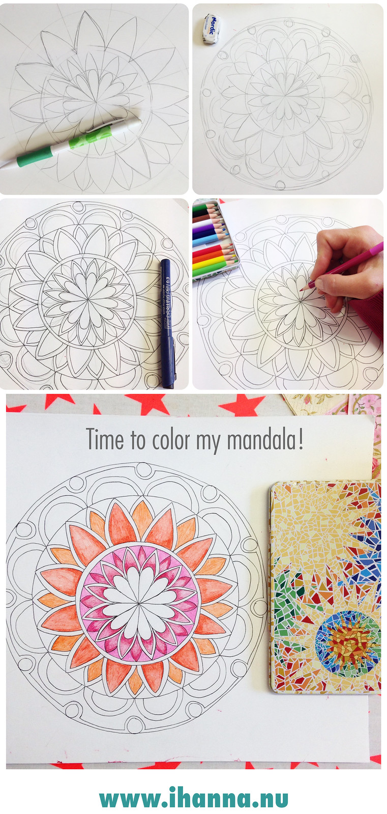 Drawing a mandala by iHanna