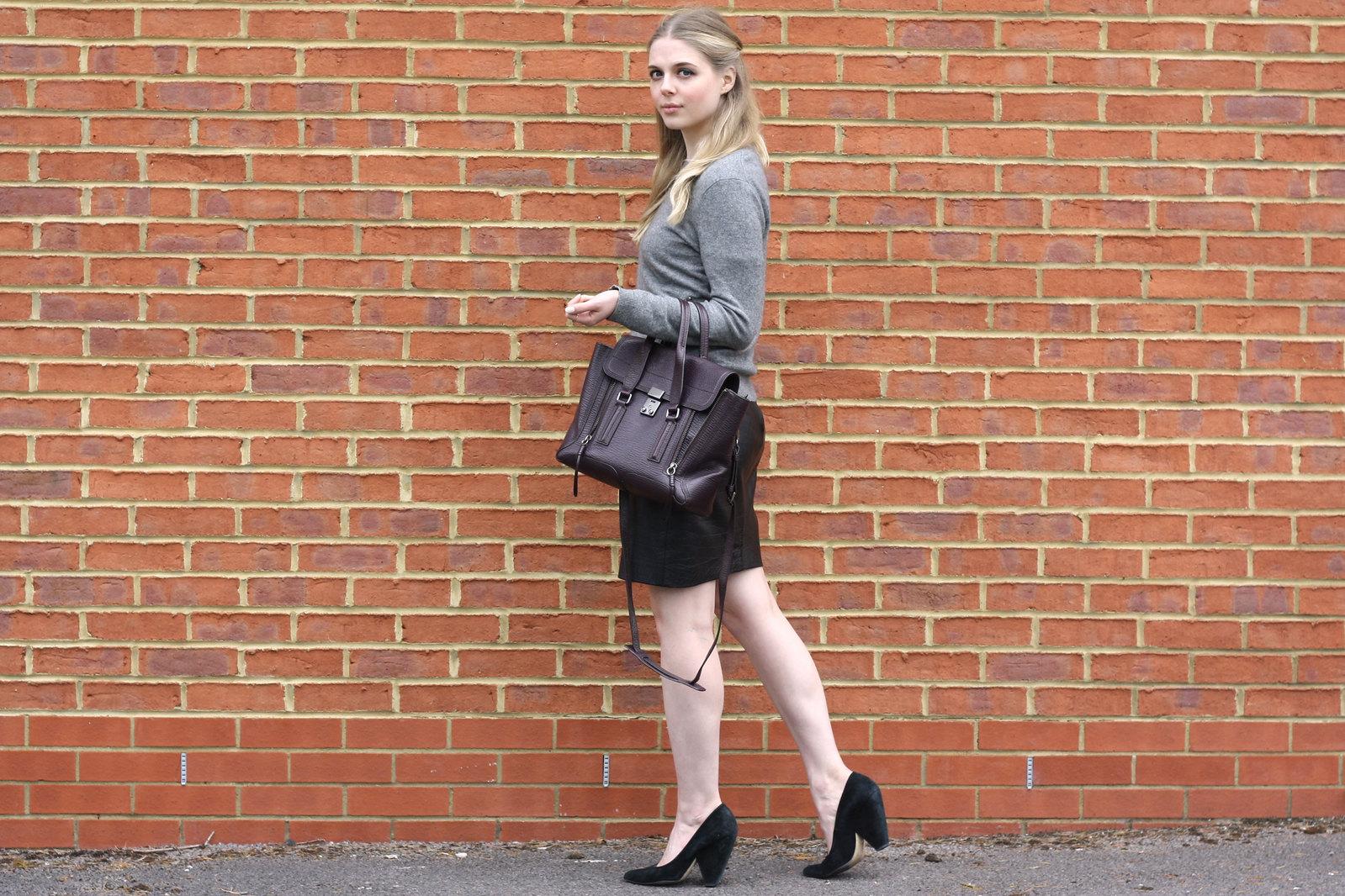 Whistles black suede heels