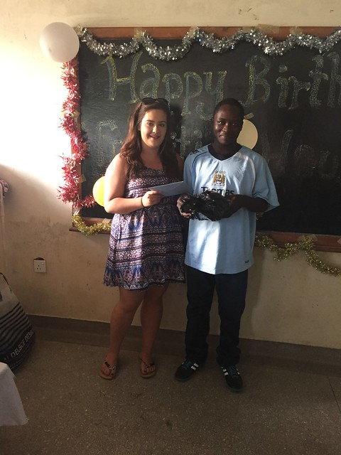 Saidi gets his gifts from Shannon
