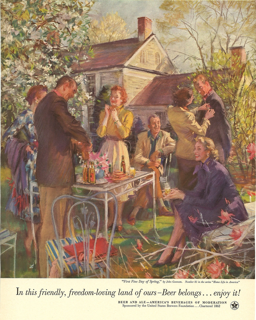 081. First Fine Day of Spring by John Gannam, 1953