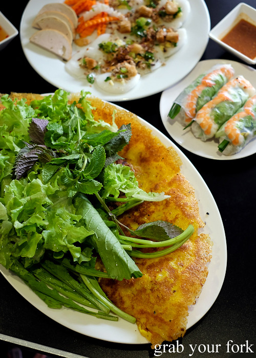 Banh xeo tom thit Vietnamese pancake with prawn and pork from Thy Vietnamese Eatery, Bankstown