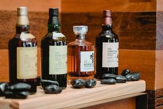 Cuatro variedades de whisky japonés.