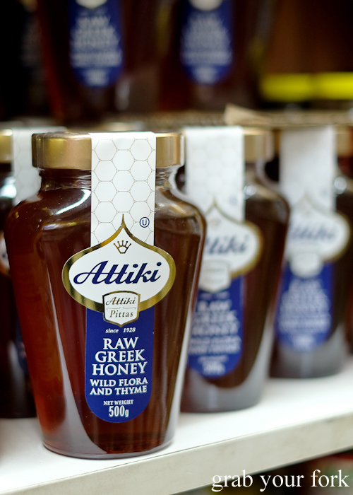 Attiki raw Greek honey with wild flora and thyme at Lamia Super Deli during the Community Kouzina Marrickville Food Tour for Open Marrickville