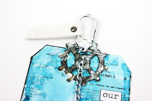 Simply paper craft meihsia Liu mixed media tag nautical tim holtz simon says stamp monday challenge 3