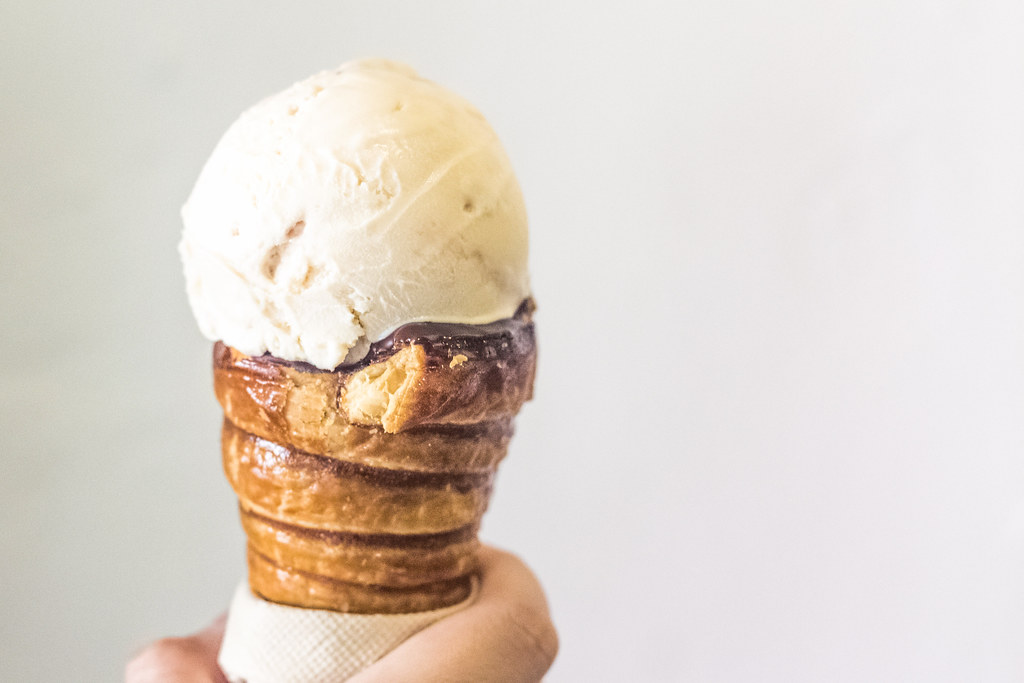 Ice Cream Desserts: Churn Creamery's PB&J ice cream