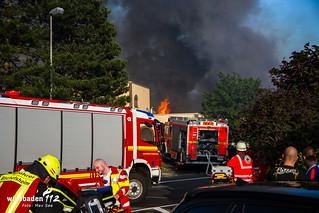 Großbrand Sportanlage Rüsselsheim 22.6.2016