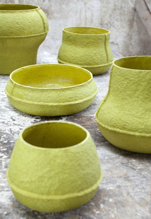 All things paper paperpulp vessels and more debbie wijskamp for Making paper pulp sculpture