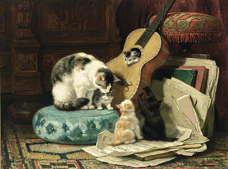 Henriette Ronner-Knip - The Guitar lesson