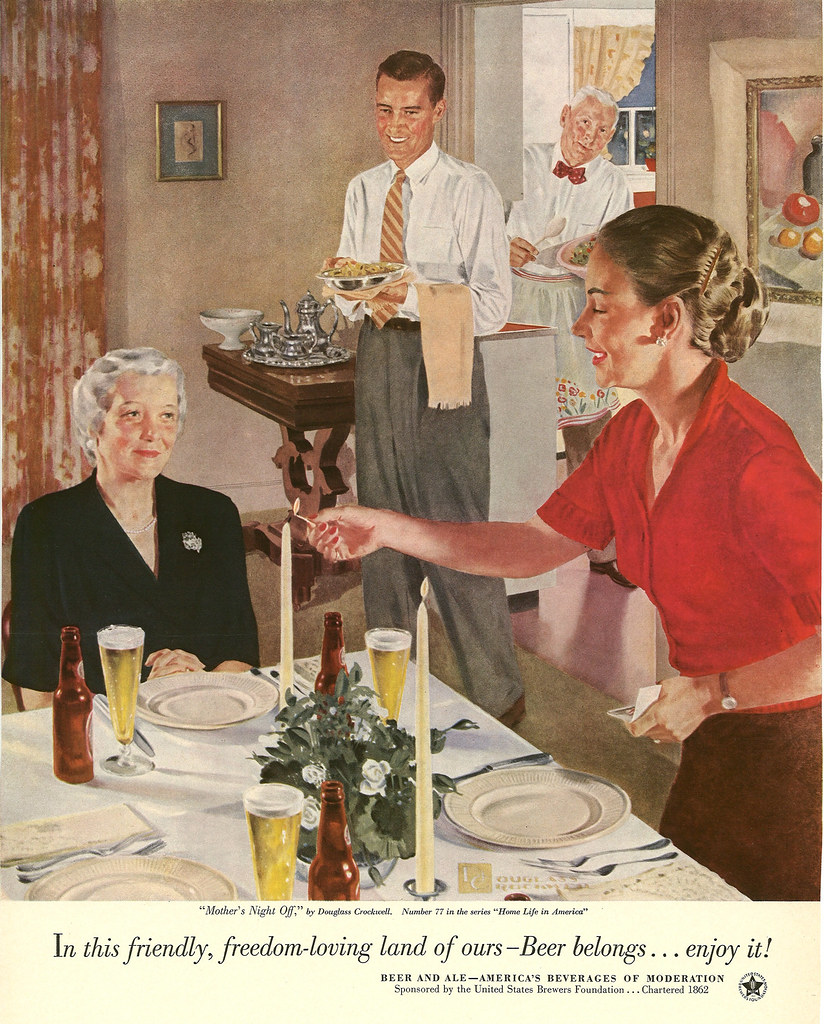 077. Mother's Night Off by Douglass Crockwell, 1953
