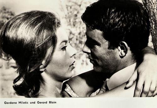 Gérard Blain and Gordana Miletic in Lo Sgarro (1962)