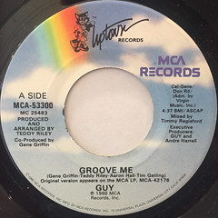 GUY:GROOVE ME(LABEL SIDE-A)