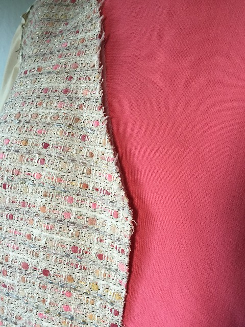 Boucle with wool knit