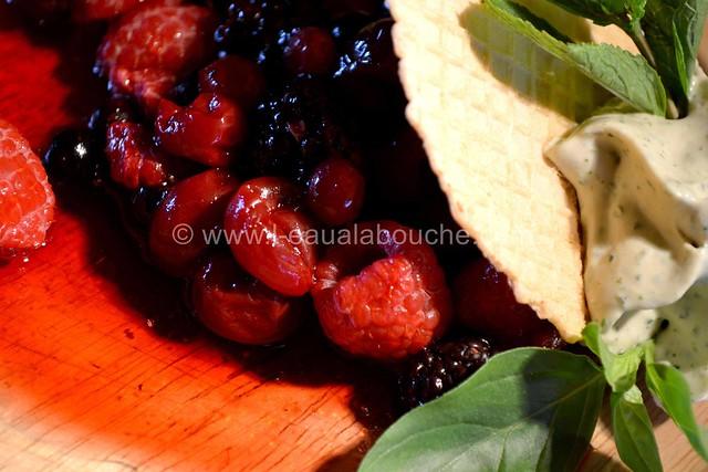 Fruits Rouges & Jus avec Crème de Basilic Menthe © Ana Luthi Tous droits réservés 14