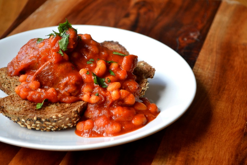 baked beans and sausages
