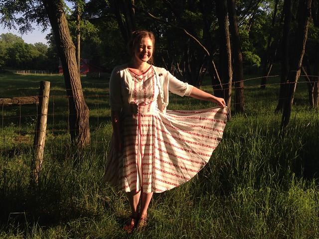 Its Finished! // 1950's Wrap Dress