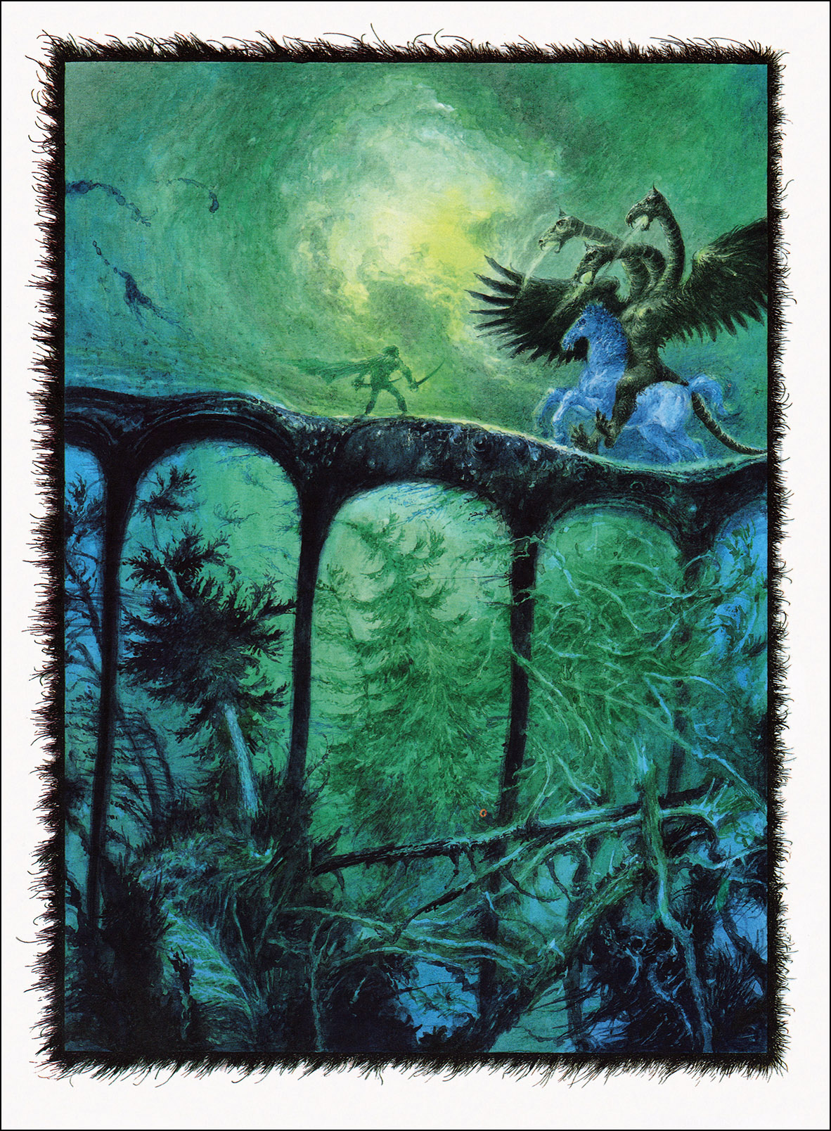 "Albin Brunovsky - Illustration - 2, from Pavol Dobšinský's ""Slovak Fairy Tales - The third book from the collection of Pavol"" 1988"