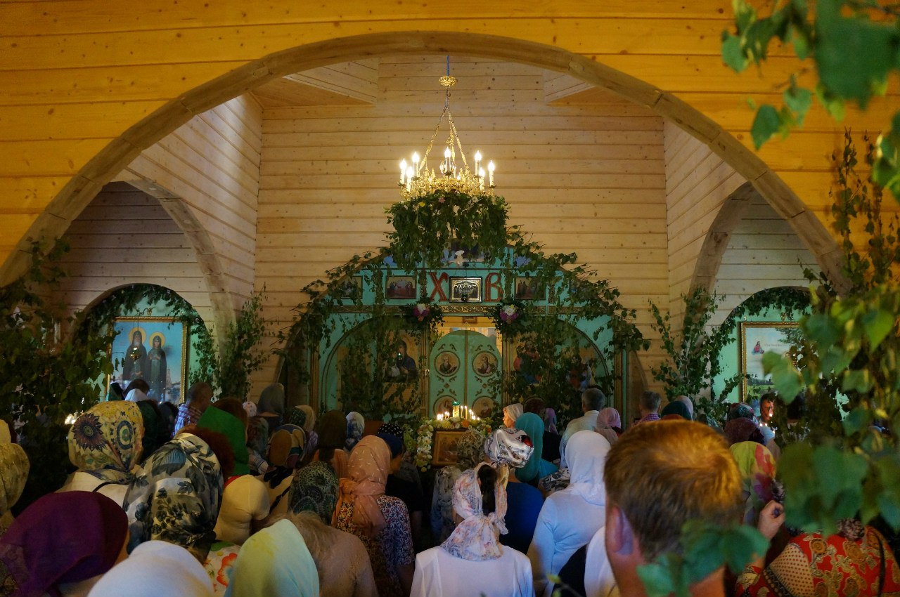 Праздник Святой Троицы в храме прпп. Кирилла и Марии Радонежских