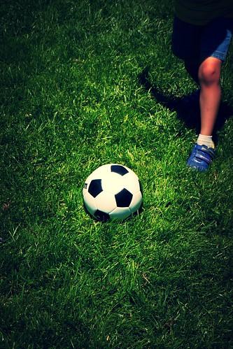 Kicking Soccer