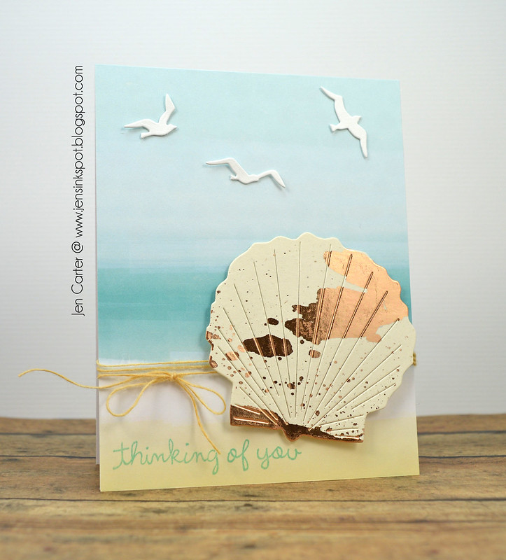 Jen Carter Scallop Shell Foiled 1