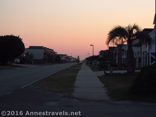 Walking back home on Holden Beach Ocean Blvd W, North Carolina
