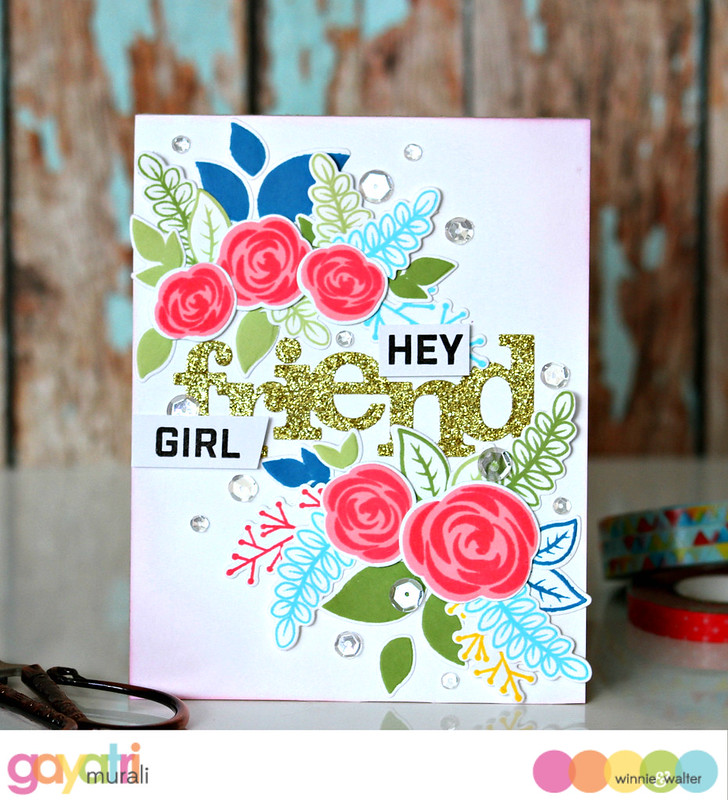 Hey girl friend card #1