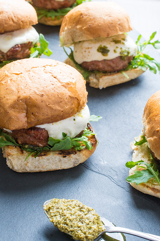 15 Healthy Burger Recipes, Meat and Meatless.  Everything from beef and turkey to salmon and black.  There is something for everyone! Grilled Italian Turkey Burgers