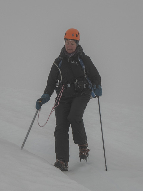 Shelley descending in poor visibility