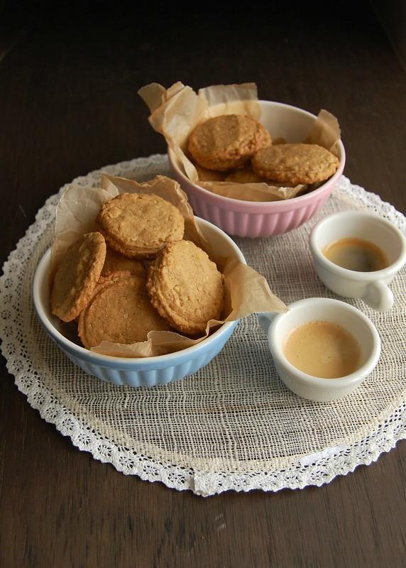 Nutty butter cookies / Cookies de paçoca