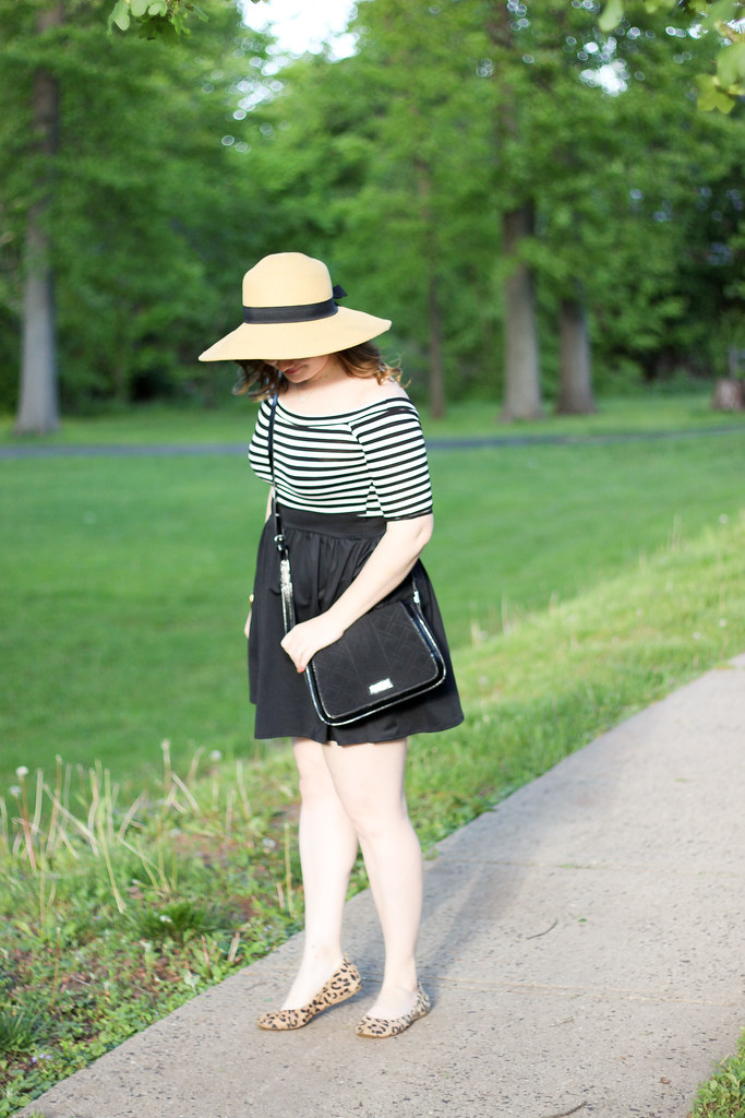 Off the Shoulder striped dress-5