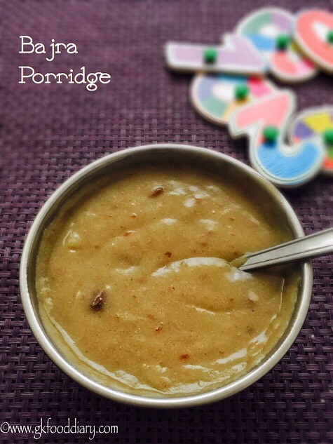 bajra porridge for babies