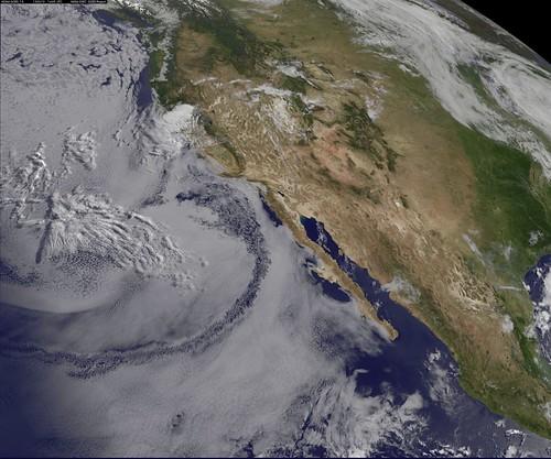 satellite shows west coast  u0026quot june gloom u0026quot  and actinoform