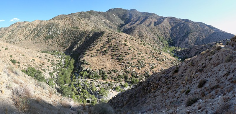 Panorama view of Deep Creek near PCT mile 312 - only two miles to the car