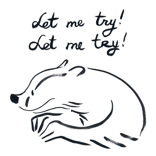 Let me try #badger #badgerlog #parenting #letme #letmetry #enthusiasm #creator