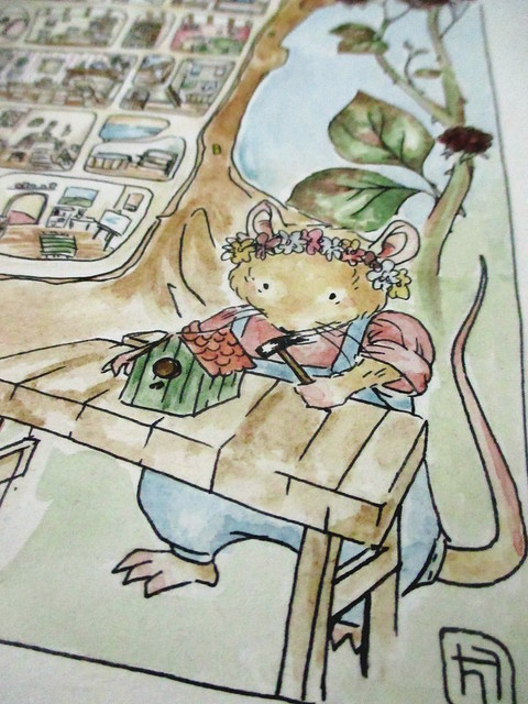 Hedgefairy: Brambly Hedge Tribute - Detail: Carpenter finished