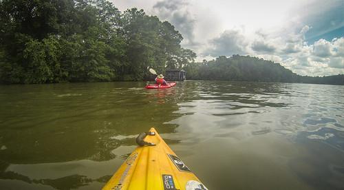 Kayaking and SUP on Saluda Lake-93