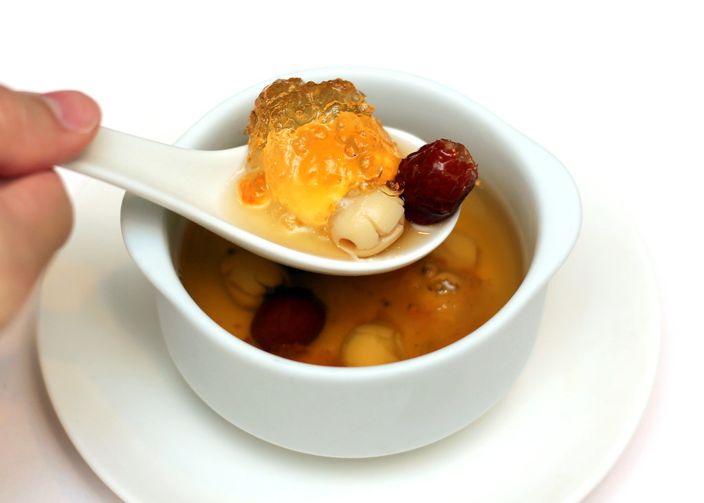 Marriott Hotel Wan Hao Chinese Restaurant Chilled Double Boiled Peach Resin With Red Dates