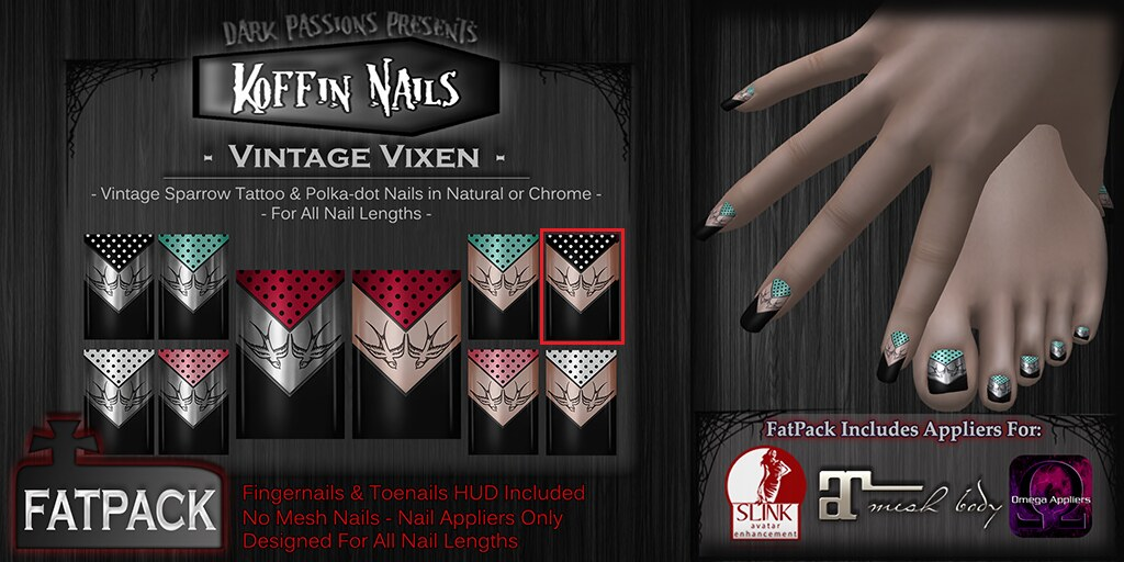 Dark Passions - Koffin Nails - Fatpack - Vintage Vixen EDIT