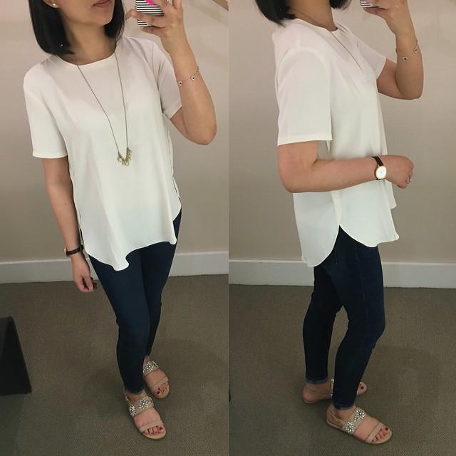 LOFT Shirttail Top, size S regular