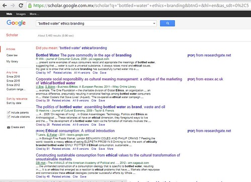 Google Scholar searches