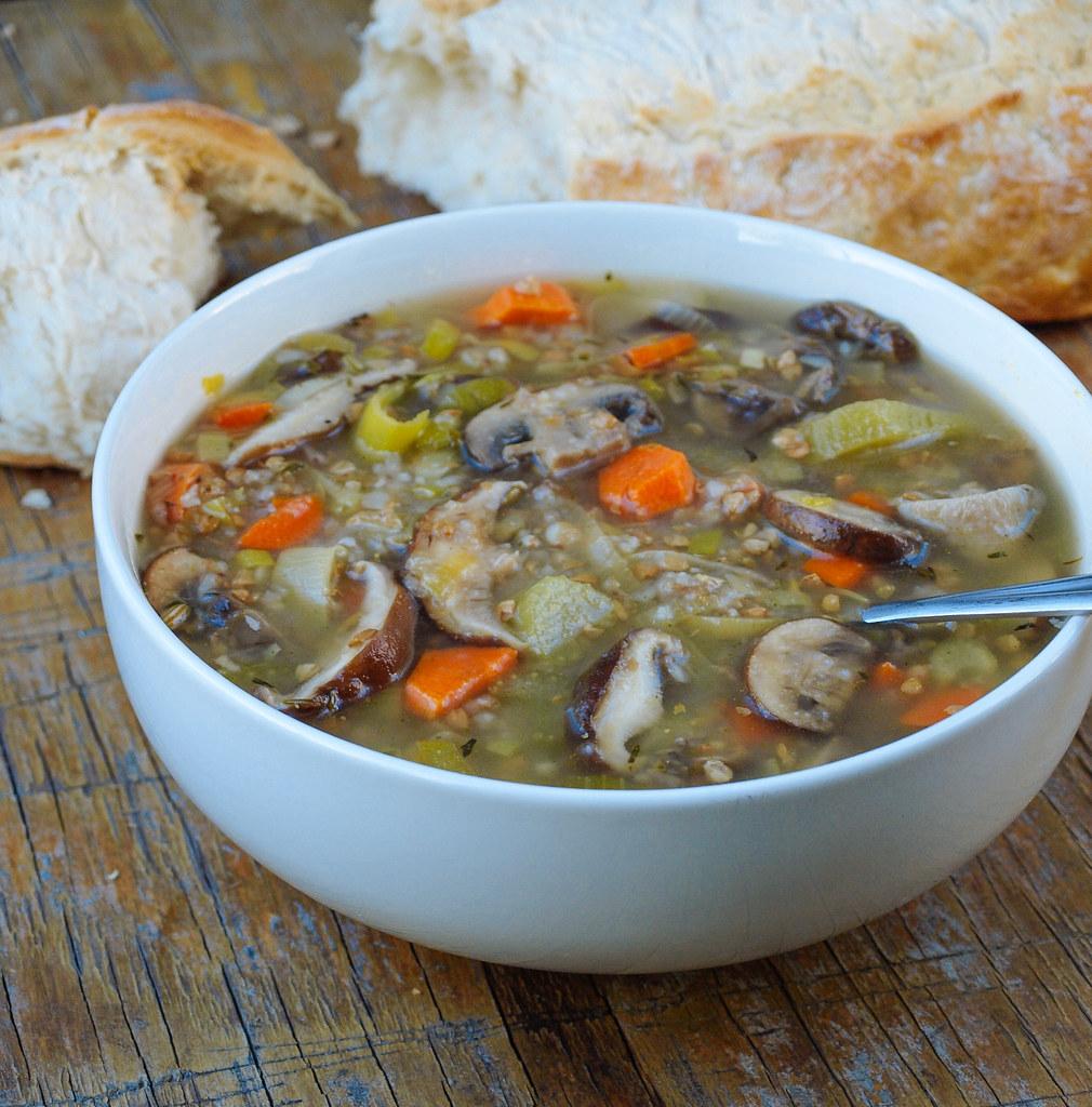 Mushroom & Buckwheat Soup