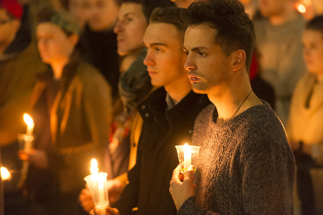 Vigil for Orlando victims, Wellington, June 13, 2016